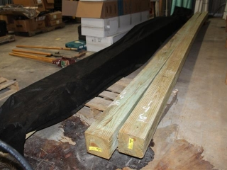 Lot Of (2) 6x6x Approx 20ft Service Poles