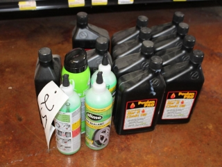 Lot of Slime Tire Sealant & Poulan Pro Bar and Chain Oil