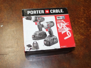 (1) Porter Cable  2 Tool NICD Combo Kit Model PC218IDC-2