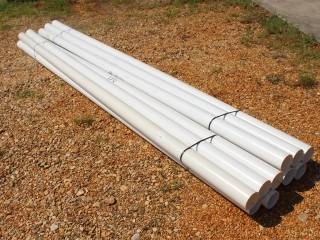 """Lot Of Approx (10) 3""""x Approx 10ft PVC Sewer Pipe"""