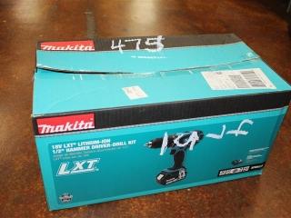 "(1) Makita 18V LXT Lithium-Ion 1/2"" Hammer Driver-Drill Kit Model XPH012X"