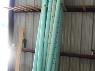 Lot of Approx (13) Perforated Sewer Pipe Approx 10ft