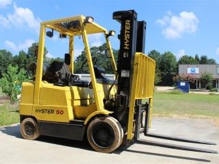 Hyster 50 Propane Forklift W/ Side Shift & Fork Cylinders Sn/ C-827020