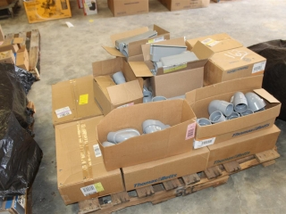 Pallet of PVC Conduit Fittings