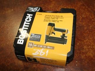 (1) BOSTITCH 18 Gauge Brad Nailer Kit Model BT1855K