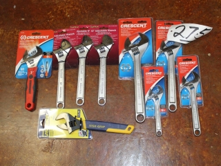 Lot of (9) Assorted Crescent Wrenches