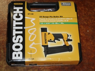 (1) Stanley BOSTITCH 23 Gauge Pin Nailer Kit Model HP118K