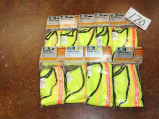 Lot of Approx (8) Safety Vests
