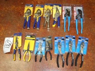 Lot of Vise Grips, Needle Nose, and Pliers
