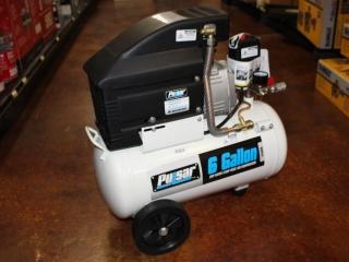 (1) Pulsar 6 Gallon Air Compressor Model PCE6060K