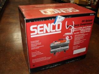(1) Senco Electric Oil Splash 4.3 Gallon Hand Carry Compressor Model PC1131