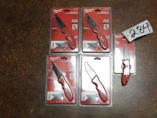 (5) Milwaukee Locking Blade Knives