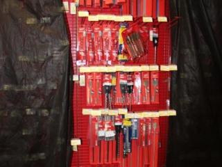 Lot of Milwaukee and Irwin Drill Bits W/ Rack