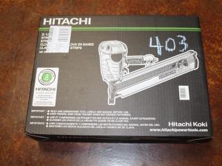 "(1) Hitachi 3-1/2"" 90mm Strip Nailer Model NR 90AE(S1)"