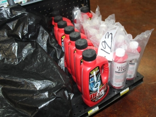 Lot of Approx (8) Drano Bottles & Approx (11) Liquid Fire Drain Line Opener (Contents of Shelf)