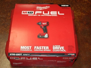 "(1) Milwaukee 1/4"" Hex Impact Driver Kit Model 2753-22CT"
