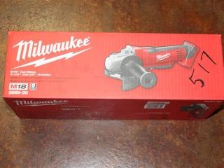 "(1) Milwaukee M18 Cordless 4-1/2"" Cut-Off/Grinder Model 2680-20"