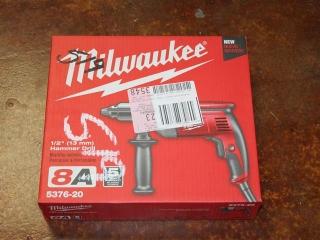 "(1) Milwaukee 1/2"" Hammer Drill Model 5376-20"
