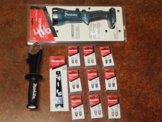 Lot of (1) Makita Flashlight Model DML 185, Makita Replacement Bulbs, Makita Lock Nut Wrench