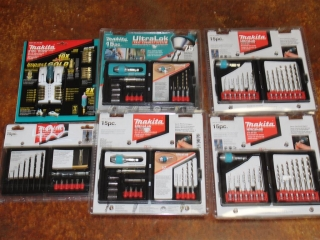 Lot of Assorted Makita Driver and Drill Bit Sets