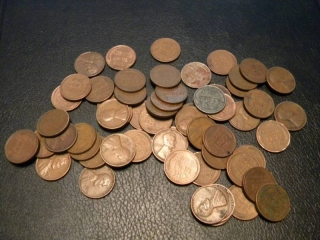 60 Wheat Back Pennies