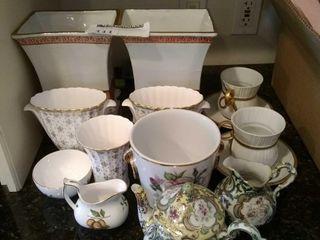 (2) Spode bone china vases with
