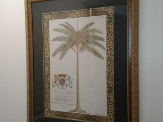 (2) Gold tone framed pictures