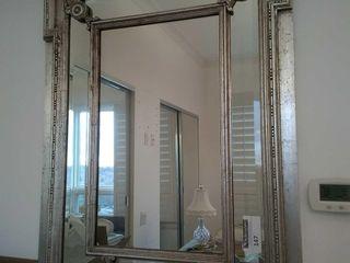 Beautiful silver tone frame