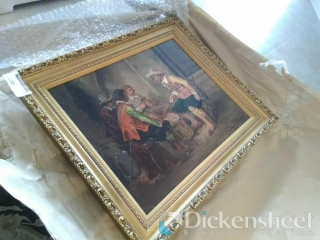 R. Michel signed oil painting
