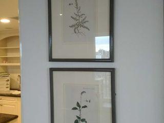 (2) Decorative framed leaf