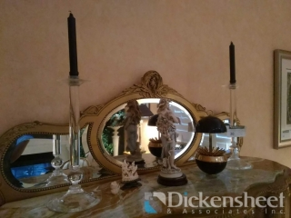 (2) Glass candle sticks, Faux
