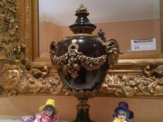 (2) Decorative porcelain clowns and