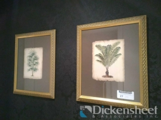 (2) Framed greenery matching frame pictures