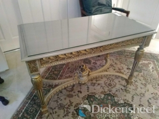 Grey and gold tone decorative
