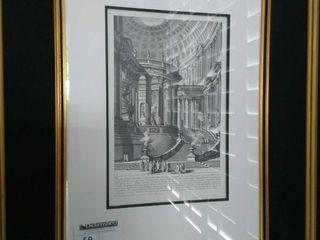 Framed Gio Batta Piranesi Arch