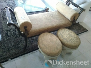 Empire style bench with silk