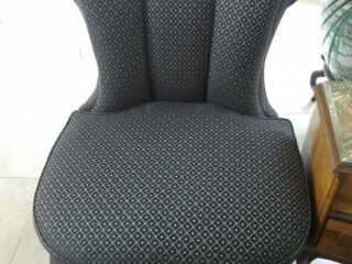 (2) Slipper Chairs with pleated