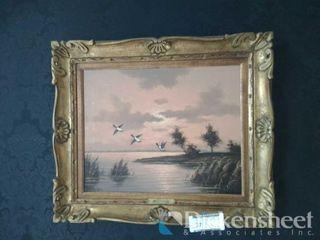 Martens framed goose artwork