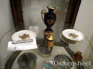 Lot of decorative items inc Lindner echt cobalt,