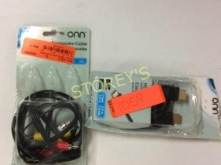 2 pc - HDMI Cable & Composite Cable