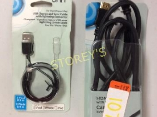 2 pc - HDMI & Lightning Cable