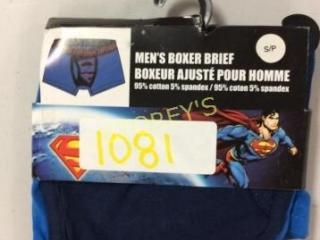 Men's Superman Boxer Brief - Size S