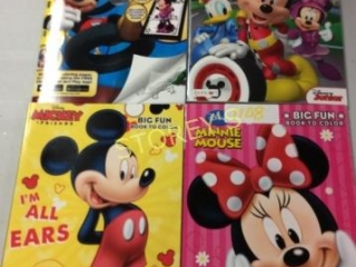 4 pc - Mickey & Minnie Mouse Colouring Books