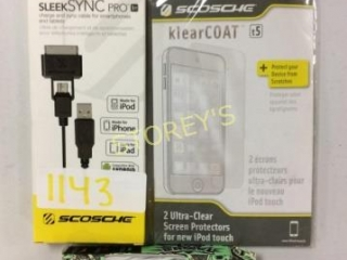 3 pc - Earbuds, Charge & Sync Cable for