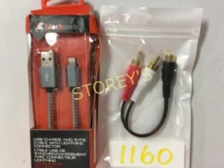 2 pc - Lightning Cable & Stereo Cable