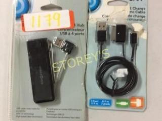 2 pc - USB Hub & Micro USB Cable