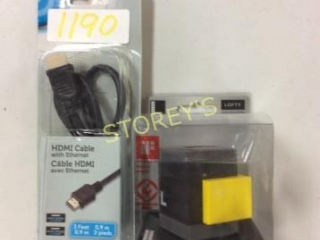 2 pc - HDMI Cable w/ Ethernet & Multi Card Reader