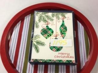2 pc - Christmas Cards & Christmas Tin Plates