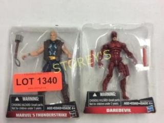 2 pc - Marvel's Thunderstrike & Daredevil Toys