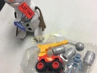 2 pc - Olaf Stuffed Animal & Toy Truck